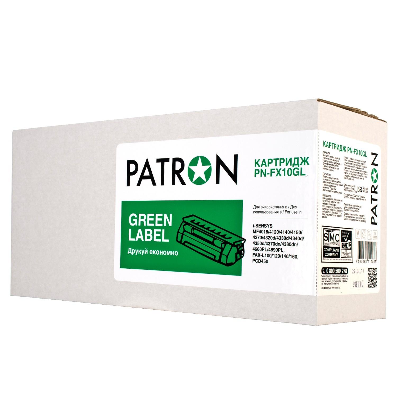 КАРТРИДЖ CANON FX10 (PN-FX10GL) PATRON GREEN Label