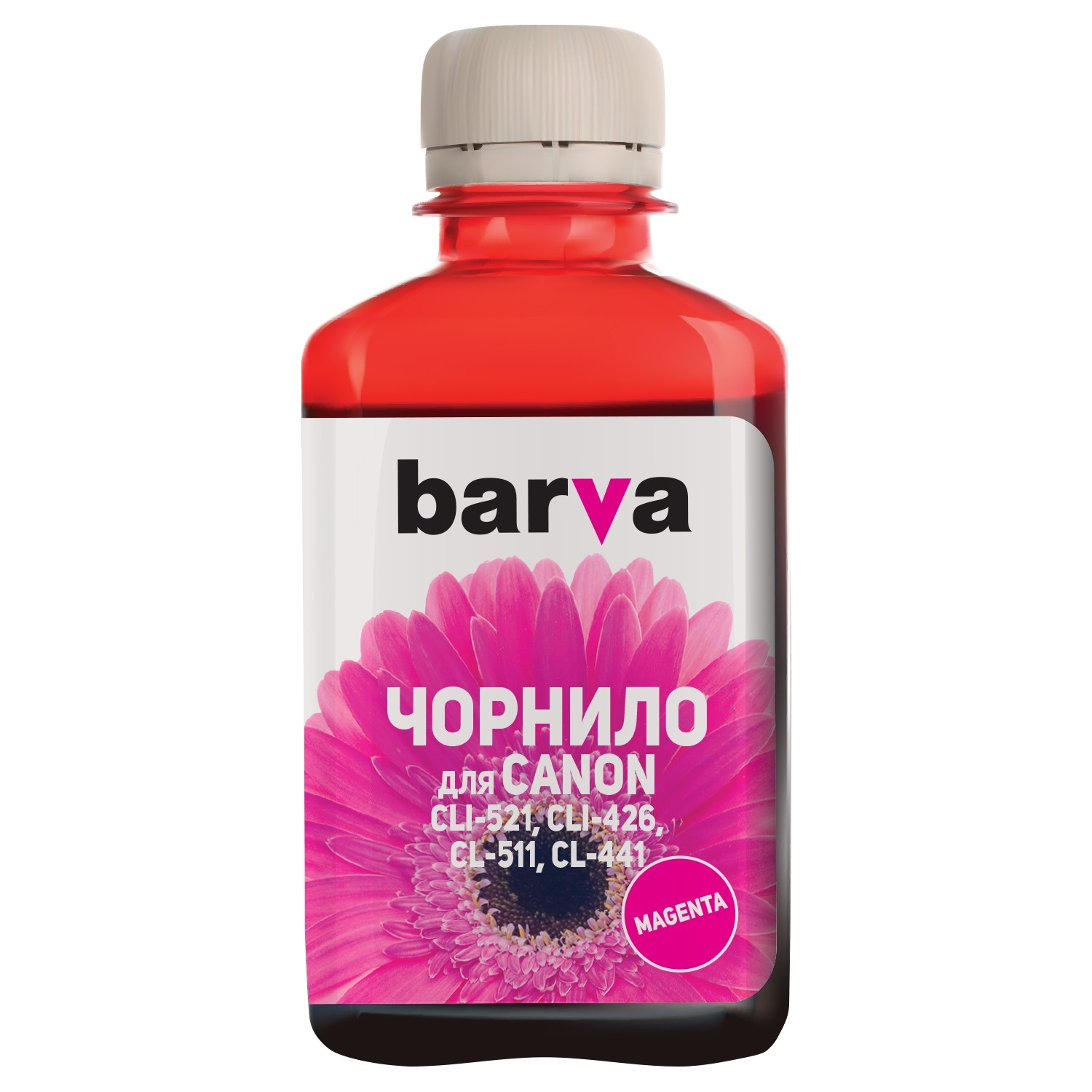 ЧЕРНИЛА CANON CLI 521/CL 511 MG2140/MP230/MP250/MP280 MAGENTA 180 г C521-058 BARVA