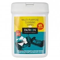 СЕРВЕТКИ ДЛЯ ОРГТЕХНІКИ вологі міні-туба 65 шт F4-003 PATRON