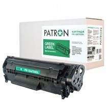 КАРТРИДЖ HP LJ Q2612A/CANON 703 (PN-12A/703GL) PATRON GREEN Label