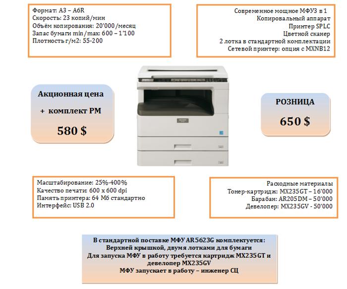Sharp AR5623G цены